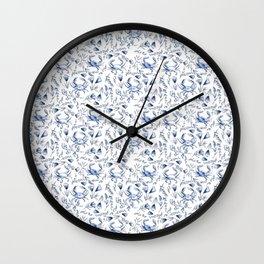 Blue Crabby Wall Clock