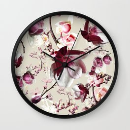 Magnolia cherry blossum Wall Clock