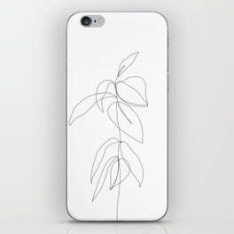Still life plant drawing - Caca iPhone Skin