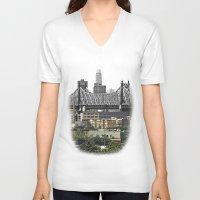 brooklyn V-neck T-shirts featuring Brooklyn by Mark MacPhail