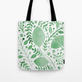 Branches and leaves - green Tote Bag