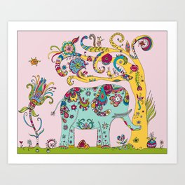 Elephant of the Forest Art Print