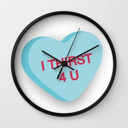 Catholic Conversation Heart I Thirst for You Wall Clock