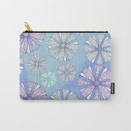 sea urchin blue watercolor Carry-All Pouch