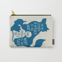Strength of the Pack - Wolf and Child Carry-All Pouch