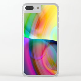 color whirl -30- Clear iPhone Case