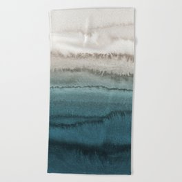 WITHIN THE TIDES - CRASHING WAVES TEAL Beach Towel