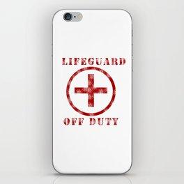 Lifeguard Off Duty iPhone Skin