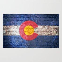 Colorado brick wall Rug