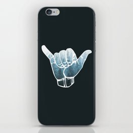 Misty Forest Hang Loose iPhone Skin