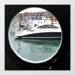 Port Hole View of Boston Canvas Print