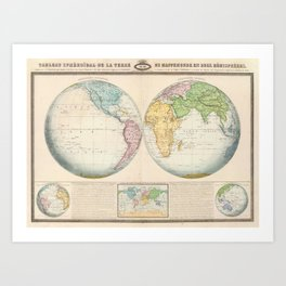 Old world map art prints society6 vintage map of the world 1862 2 art print gumiabroncs Gallery