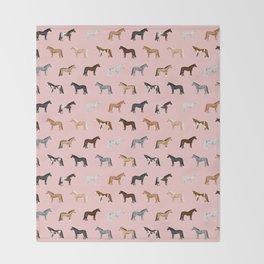 horses farm animal pet gifts Throw Blanket