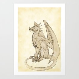 Lyrasz; Portrait of a Young Wyrm Art Print