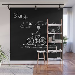 Biking... Yeah! I like that. Wall Mural