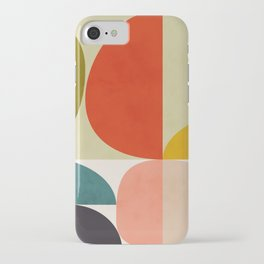 shapes of mid century geometry art iPhone Case