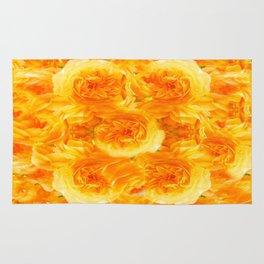 MODERN  GOLDEN ROSES FLOWERS CARPET Rug