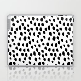 Hand drawn drops and dots on white - Mix & Match with Simplicty of life Laptop & iPad Skin