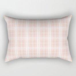 Spring 2017 Designer Color Pale Pink Dogwood Tartan Plaid Check Rectangular Pillow