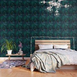 Vincent Van Gogh Trees & Underwood Teal Green Wallpaper