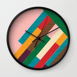 meridian pink Wall Clock