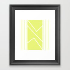 Irregular Chevron - The Yellow Framed Art Print