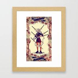 Hunter x Hunter Tarot: Six of Swords Framed Art Print