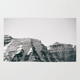 Black and White Wasatch Mountains Rug