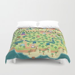 Animal Crossing (どうぶつの 森) Duvet Cover