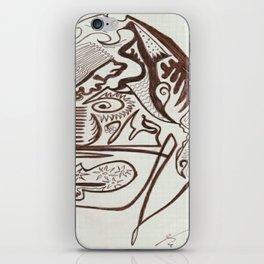 Encre brun iPhone Skin
