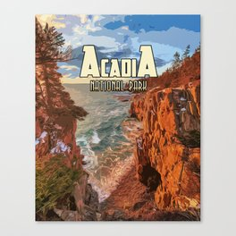 Acadia National Park at Maine Canvas Print