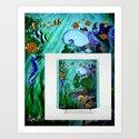 Mermaid Shower Curtain Available NOW! by sylvieheasman