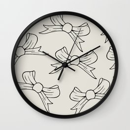 Elegant Bow, Black And White Bows, Christmas Bows, Wall Clock