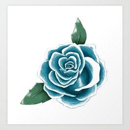 Rose Bleue Art Print
