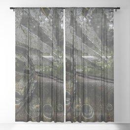 Dashed Board Sheer Curtain