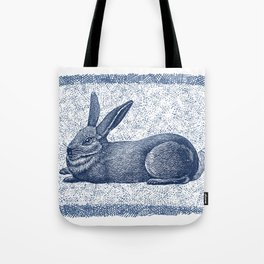 Rabbit print, Vintage Rabbit, Animal Wall Art Tote Bag