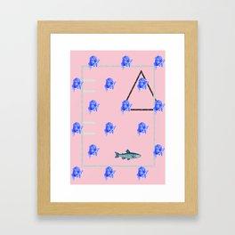 dim yeung fish Framed Art Print
