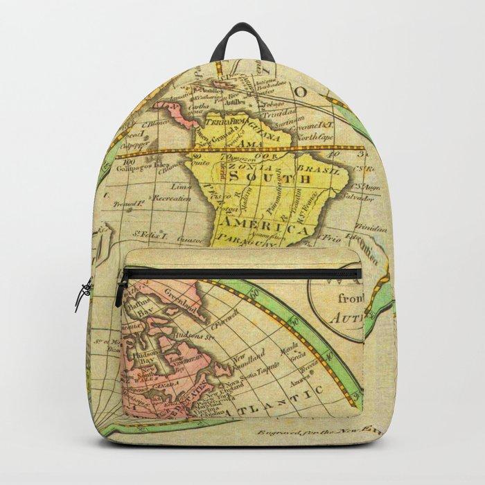 Vintage World Map 1798 Backpack