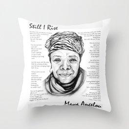 Still I Rise Print Maya Angelou Poem Throw Pillow