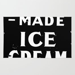 Home-made Ice Cream Vintage Sign Rug