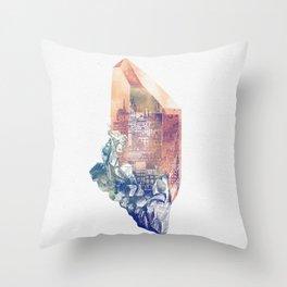 Byzantium Crystal City Throw Pillow