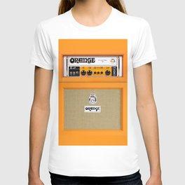 Bright Orange color amplifier amp T-shirt