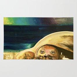Sleepy Seal on the Beach Rug
