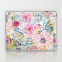 Watercolor hand paint floral design Laptop & iPad Skin