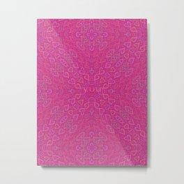 Flowery hearts Metal Print