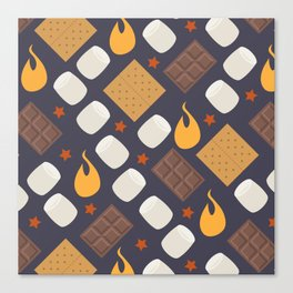Smores on the Campfire Canvas Print