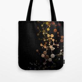 Metallic Molecule Tote Bag