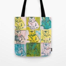 Retro Kitty Tote Bag