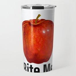 Muérdeme manzana roja Travel Mug