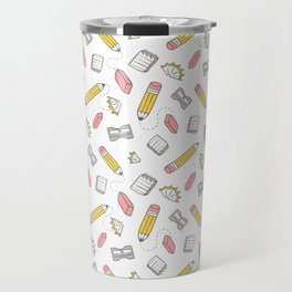 Pencil, eraser, sharpener. Travel Mug
